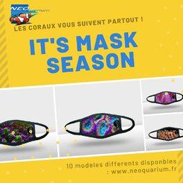 Vous voulez tous avoir un look différent ! Arborez fièrement un masque qui montre votre passion ! Disponible en ligne sur le site de neoquarium.fr #masqueneo #neoquarium #mask