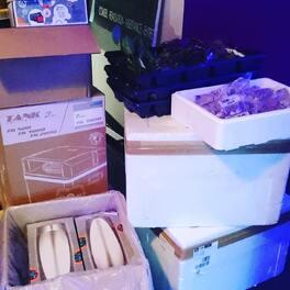 C'est la journée des livraisons 📦. Kevin va avoir quelques cartons à jeter 😮 On as des tridents . Dès apex . Des nouvelles nourritures en flocons. De la nourriture vivante .. du matos et des poissons .. le plein de plantes aussi ..